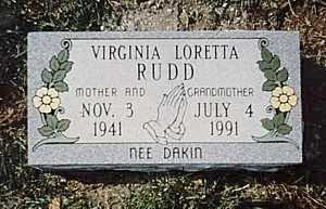 RUDD, VIRGINIA LORETTA - Clermont County, Ohio | VIRGINIA LORETTA RUDD - Ohio Gravestone Photos