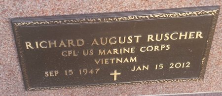 RUSCHER, RICHARD AUGUST - Clermont County, Ohio | RICHARD AUGUST RUSCHER - Ohio Gravestone Photos