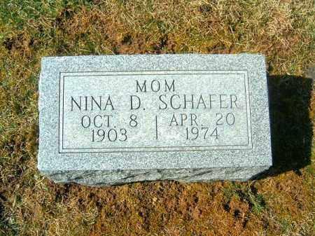 SCHAFER, NINA   D - Clermont County, Ohio   NINA   D SCHAFER - Ohio Gravestone Photos