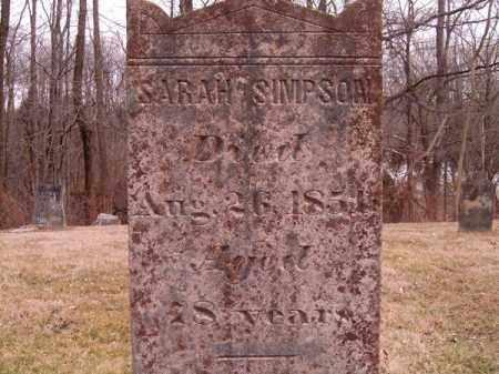 SIMPSON, SARAH - Clermont County, Ohio | SARAH SIMPSON - Ohio Gravestone Photos