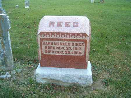 REED SINKS, HANNAH - Clermont County, Ohio | HANNAH REED SINKS - Ohio Gravestone Photos