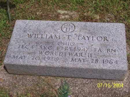 TAYLOR, WILLIAM THOMAS - Clermont County, Ohio | WILLIAM THOMAS TAYLOR - Ohio Gravestone Photos