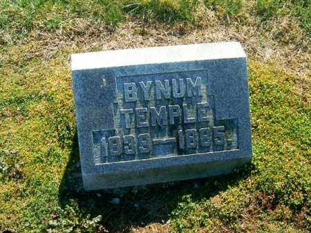 TEMPLE, BYNUM - Clermont County, Ohio | BYNUM TEMPLE - Ohio Gravestone Photos