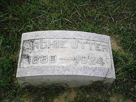 UTTER, ARCHIE - Clermont County, Ohio | ARCHIE UTTER - Ohio Gravestone Photos