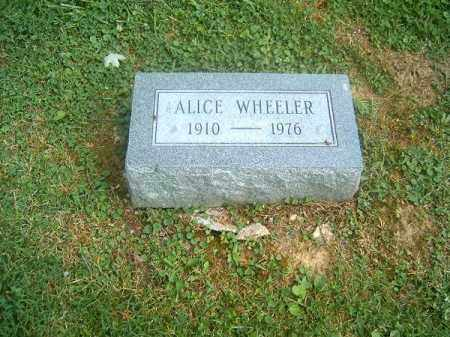 WHEELER, ALICE - Clermont County, Ohio | ALICE WHEELER - Ohio Gravestone Photos