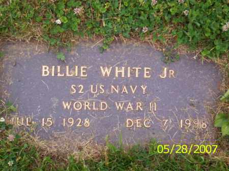 WHITE JR., BILLIE - Clermont County, Ohio | BILLIE WHITE JR. - Ohio Gravestone Photos