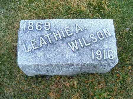 WILSON, LEATHIE  A - Clermont County, Ohio | LEATHIE  A WILSON - Ohio Gravestone Photos