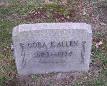 ALLEN, CORA E. - Columbiana County, Ohio | CORA E. ALLEN - Ohio Gravestone Photos