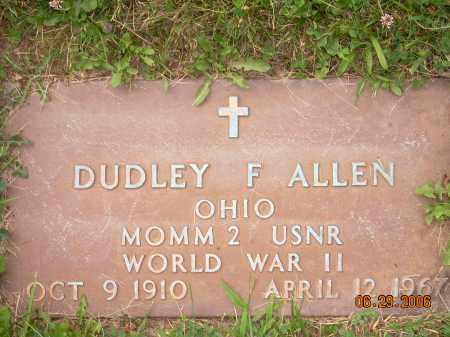ALLEN, DUDLEY F - Columbiana County, Ohio | DUDLEY F ALLEN - Ohio Gravestone Photos