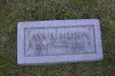 ALLISON, ANN K. - Columbiana County, Ohio | ANN K. ALLISON - Ohio Gravestone Photos