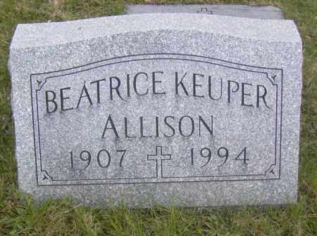 ALLISON, BEATRICE KEUPER - Columbiana County, Ohio | BEATRICE KEUPER ALLISON - Ohio Gravestone Photos