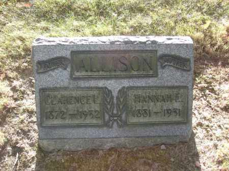 ALLISON, HANNAH E. - Columbiana County, Ohio | HANNAH E. ALLISON - Ohio Gravestone Photos