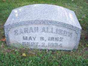 ALLISON, SARAH - Columbiana County, Ohio | SARAH ALLISON - Ohio Gravestone Photos
