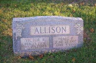 ALLISON, VICTOR R. - Columbiana County, Ohio | VICTOR R. ALLISON - Ohio Gravestone Photos