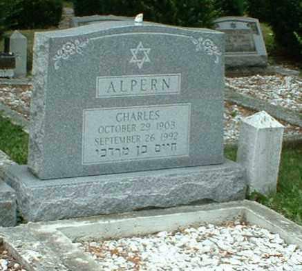 ALPERN, CHARLES - Columbiana County, Ohio | CHARLES ALPERN - Ohio Gravestone Photos