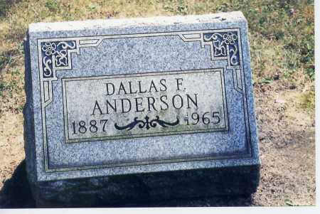ANDERSON, DALLAS - Columbiana County, Ohio | DALLAS ANDERSON - Ohio Gravestone Photos