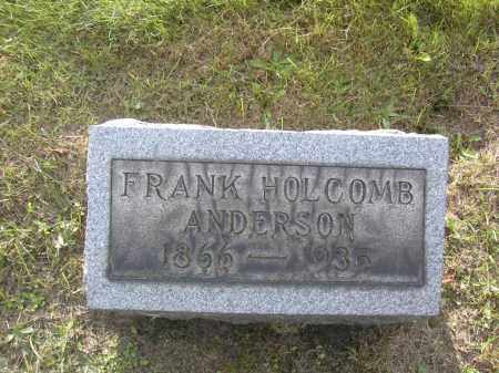 ANDERSON, FRANK HOLCOMB - Columbiana County, Ohio | FRANK HOLCOMB ANDERSON - Ohio Gravestone Photos