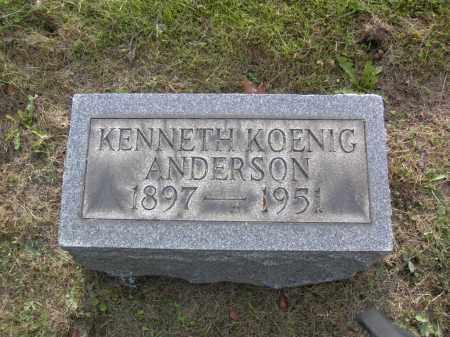 ANDERSON, KENNETH KOENIG - Columbiana County, Ohio | KENNETH KOENIG ANDERSON - Ohio Gravestone Photos