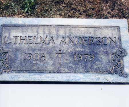ANDERSON, L. THELMA - Columbiana County, Ohio | L. THELMA ANDERSON - Ohio Gravestone Photos