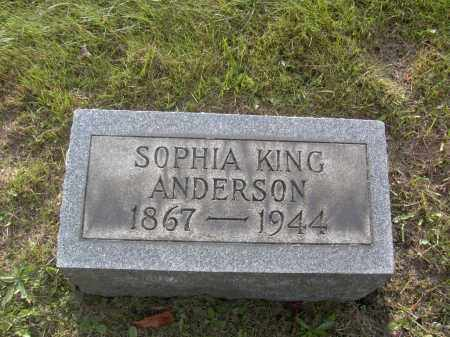 ANDERSON, SOPHIA KING - Columbiana County, Ohio | SOPHIA KING ANDERSON - Ohio Gravestone Photos