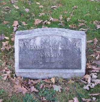 ANKRUM, EMMA NEISER - Columbiana County, Ohio | EMMA NEISER ANKRUM - Ohio Gravestone Photos