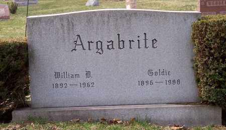 ARGABRITE, WILLIAM D. - Columbiana County, Ohio | WILLIAM D. ARGABRITE - Ohio Gravestone Photos