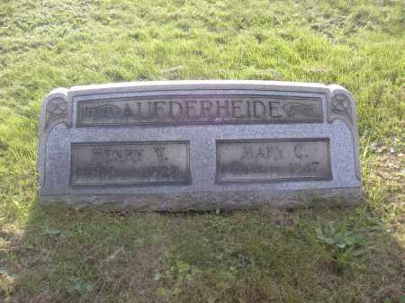 AUFDERHEIDE, MARY C. - Columbiana County, Ohio | MARY C. AUFDERHEIDE - Ohio Gravestone Photos