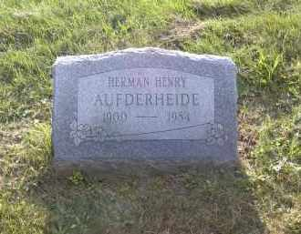 AUFDERHEIDE, HERMAN HENRY - Columbiana County, Ohio | HERMAN HENRY AUFDERHEIDE - Ohio Gravestone Photos