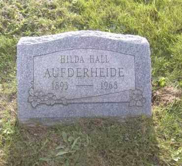 AUFDERHEIDE, HILDA HALL - Columbiana County, Ohio   HILDA HALL AUFDERHEIDE - Ohio Gravestone Photos