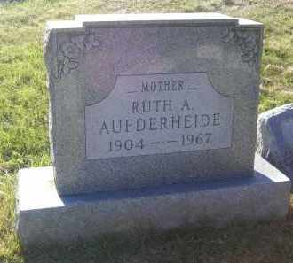 AUFDERHEIDE, RUTH A. - Columbiana County, Ohio | RUTH A. AUFDERHEIDE - Ohio Gravestone Photos