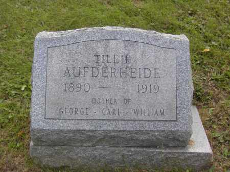 AUFDERHEIDE, TILLIE - Columbiana County, Ohio | TILLIE AUFDERHEIDE - Ohio Gravestone Photos