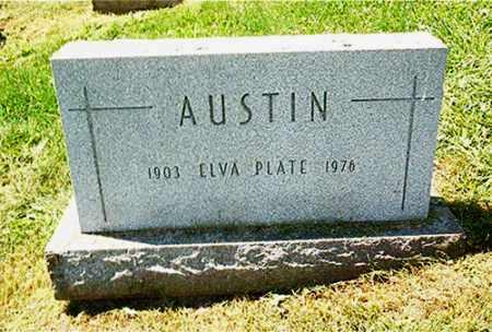 PLATE AUSTIN, ELVA - Columbiana County, Ohio | ELVA PLATE AUSTIN - Ohio Gravestone Photos