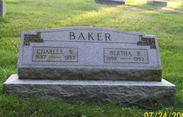BENTZ BAKER, BERTHA B. - Columbiana County, Ohio | BERTHA B. BENTZ BAKER - Ohio Gravestone Photos