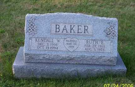 JONES BAKER, RUTH ELIZABETH - Columbiana County, Ohio | RUTH ELIZABETH JONES BAKER - Ohio Gravestone Photos