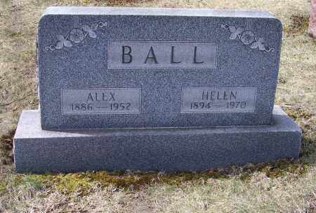 BALL, ALEX - Columbiana County, Ohio | ALEX BALL - Ohio Gravestone Photos