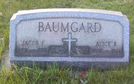 BAUMGARD, JACOB F. - Columbiana County, Ohio | JACOB F. BAUMGARD - Ohio Gravestone Photos