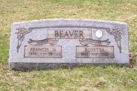 BEAVER, FRANCIS M. - Columbiana County, Ohio | FRANCIS M. BEAVER - Ohio Gravestone Photos
