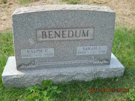 FISHER BENEDUM, SARAH L - Columbiana County, Ohio | SARAH L FISHER BENEDUM - Ohio Gravestone Photos
