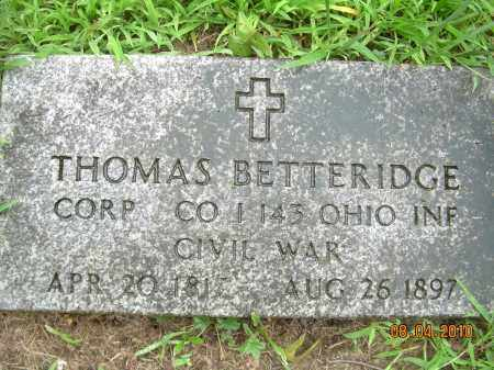 BETTERIDGE, THOMAS - Columbiana County, Ohio | THOMAS BETTERIDGE - Ohio Gravestone Photos