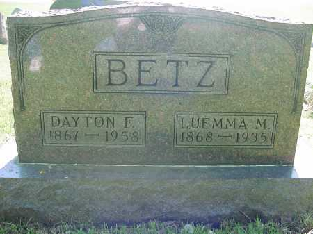 BETZ, DAYTON - Columbiana County, Ohio | DAYTON BETZ - Ohio Gravestone Photos