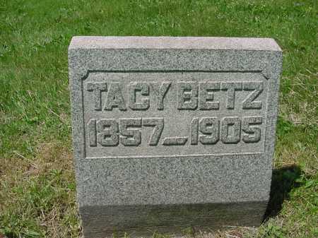 BETZ, TACY - Columbiana County, Ohio   TACY BETZ - Ohio Gravestone Photos