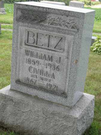 BETZ, CIVILLA - Columbiana County, Ohio | CIVILLA BETZ - Ohio Gravestone Photos