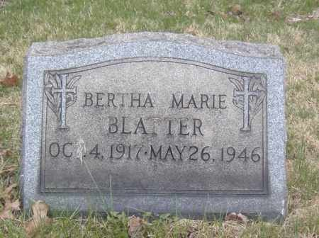 BLATTER, BERTHA MARIE - Columbiana County, Ohio | BERTHA MARIE BLATTER - Ohio Gravestone Photos