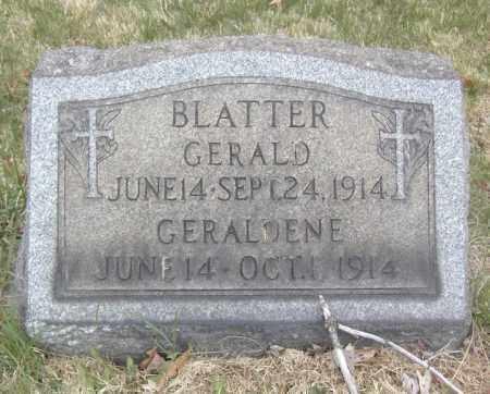 BLATTER, GERALD - Columbiana County, Ohio | GERALD BLATTER - Ohio Gravestone Photos