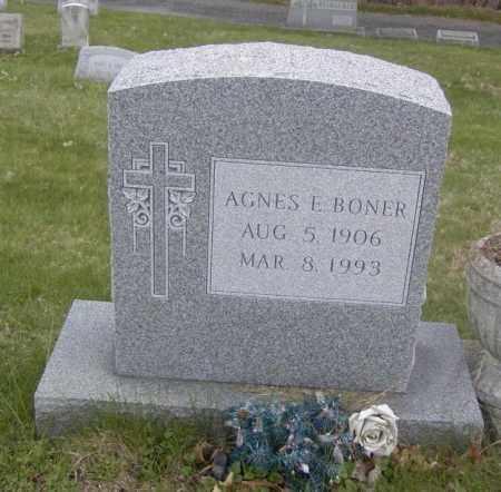BONER, AGNES E. - Columbiana County, Ohio | AGNES E. BONER - Ohio Gravestone Photos