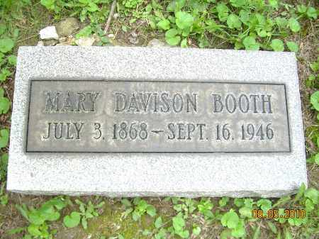 DAVISON BOOTH, MARY - Columbiana County, Ohio | MARY DAVISON BOOTH - Ohio Gravestone Photos