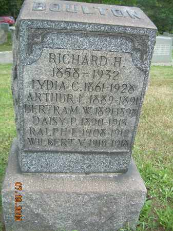 BOULTON, RICHARD H - Columbiana County, Ohio | RICHARD H BOULTON - Ohio Gravestone Photos