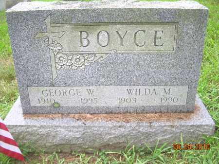 BOYCE, WILDA M - Columbiana County, Ohio | WILDA M BOYCE - Ohio Gravestone Photos
