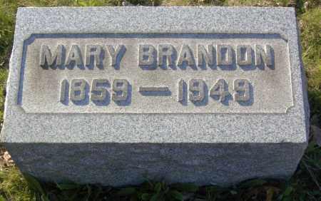 BRANDON, MARY - Columbiana County, Ohio | MARY BRANDON - Ohio Gravestone Photos