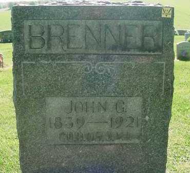 BRENNER, JOHN G - Columbiana County, Ohio | JOHN G BRENNER - Ohio Gravestone Photos